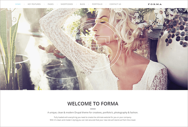 Creative Fashion Photogrpahy Drupal Theme