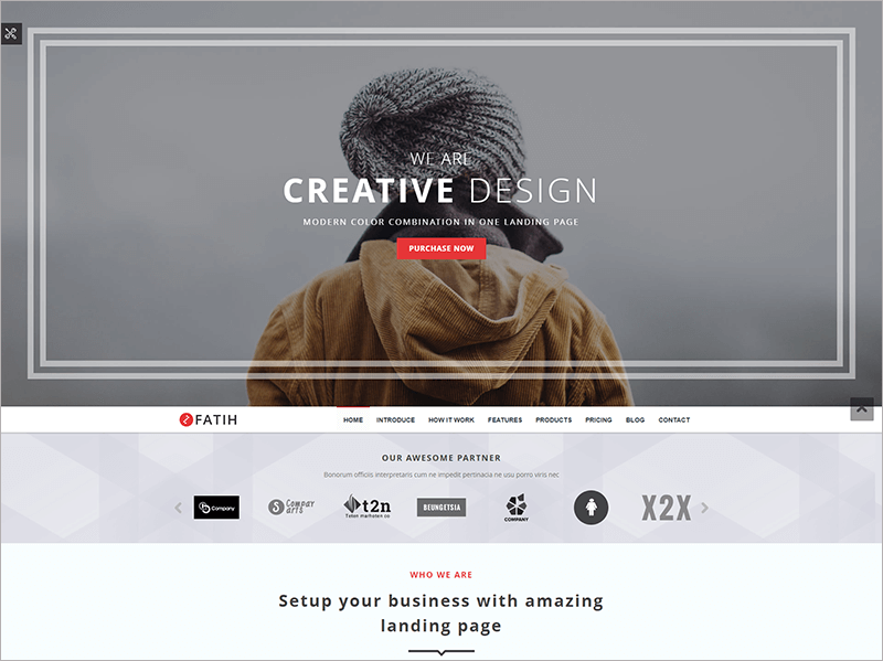 Creative Landing Page Template