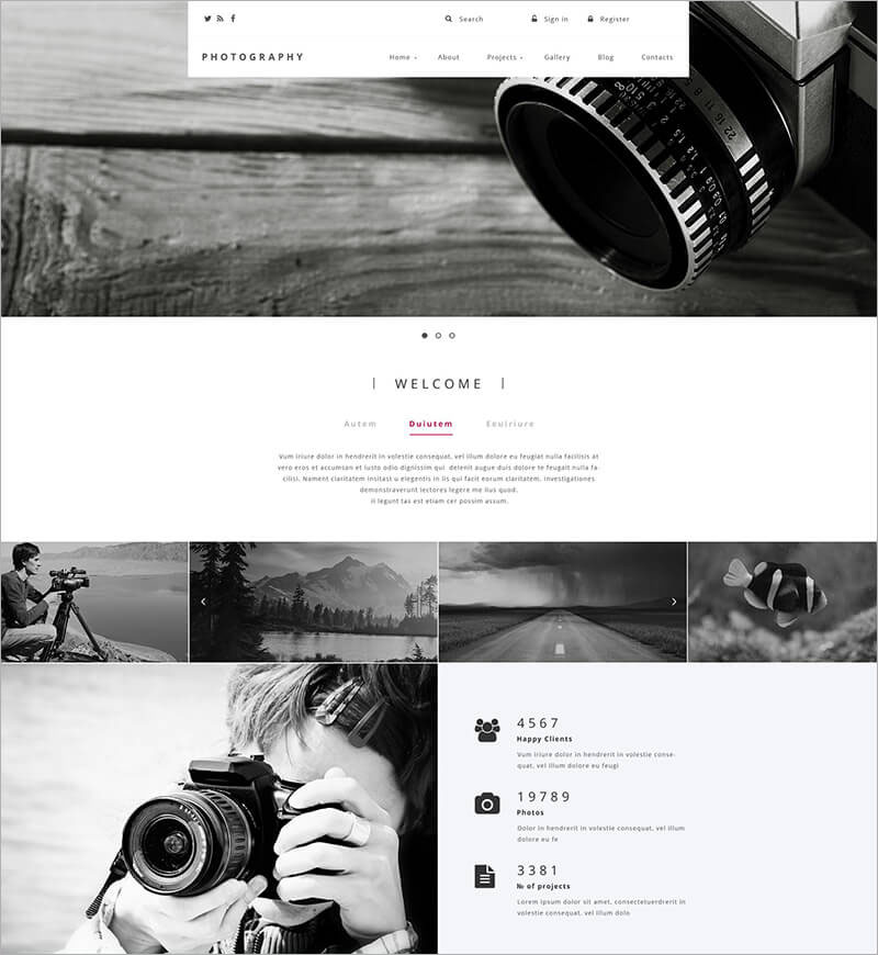 Creative Photography Drupal Template