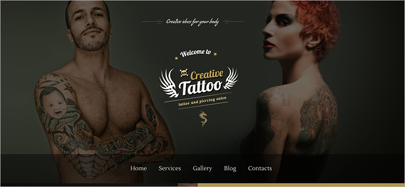 Creative Tattoo Bootstrap Theme