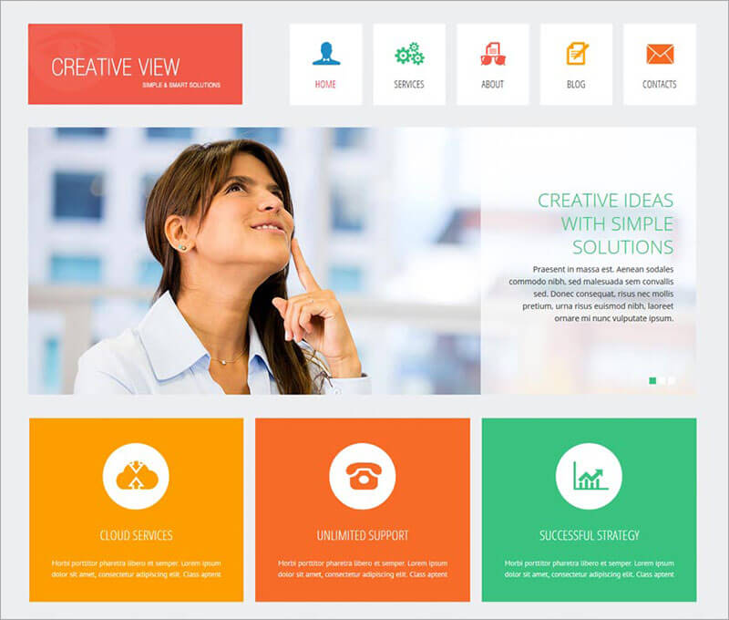Creative View Joomla Theme