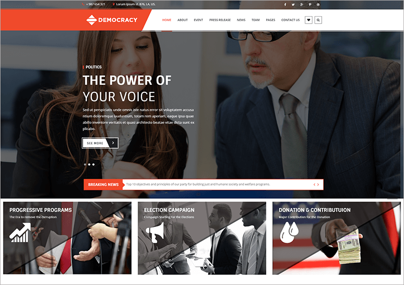 Democracy HTML Theme