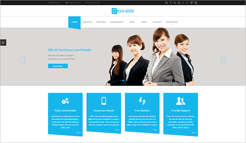 Desirable Business Landing Page Template