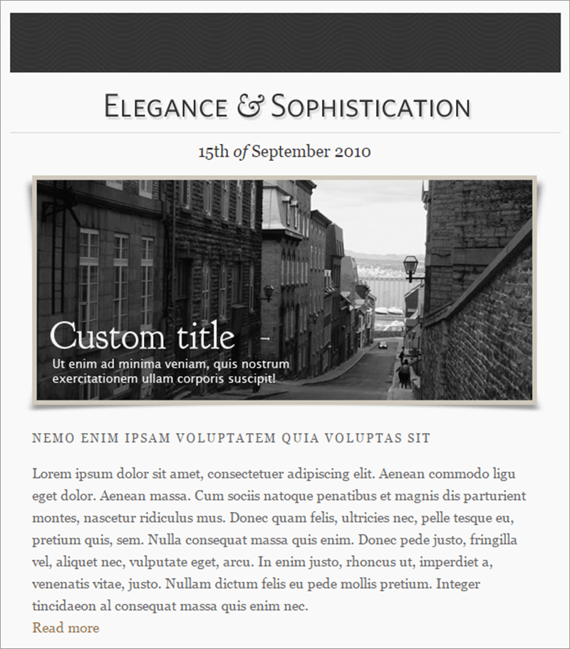Elegance HTML Email Template
