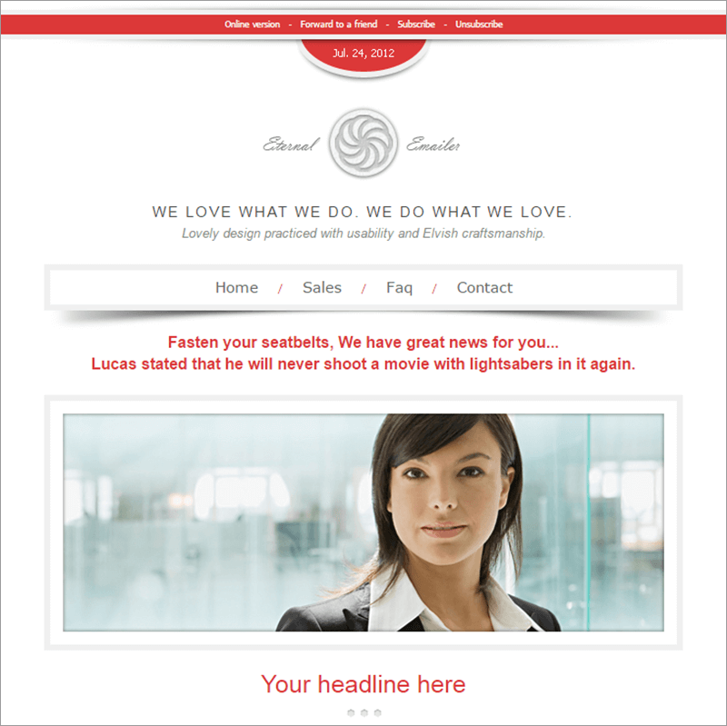 Eternal E mailer HTML Email Template
