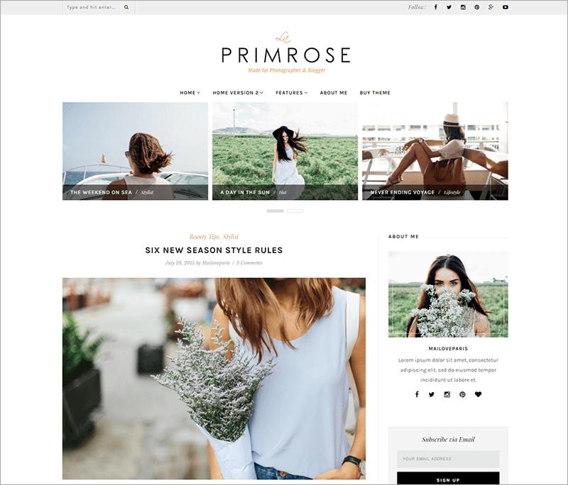 Feminine WordPress Blog Template