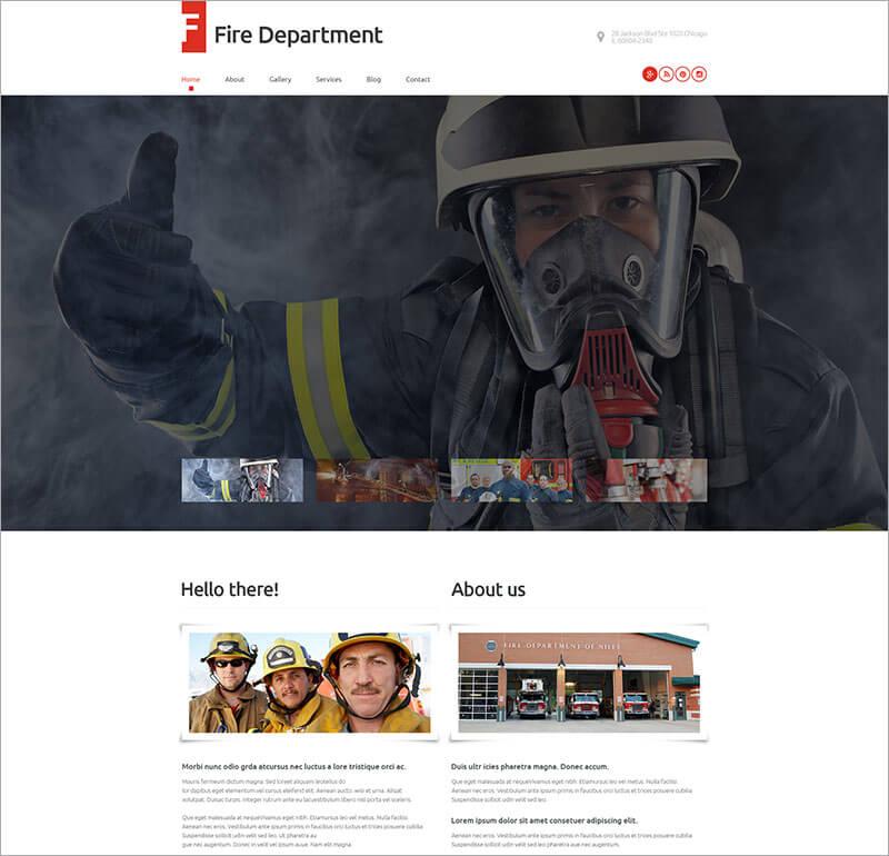 Fire Security Department WordPress Theme