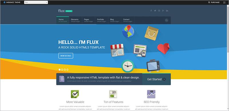 Flat Corporate HTML Template