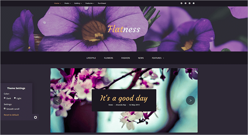 Flat Personal HTML Blog Template