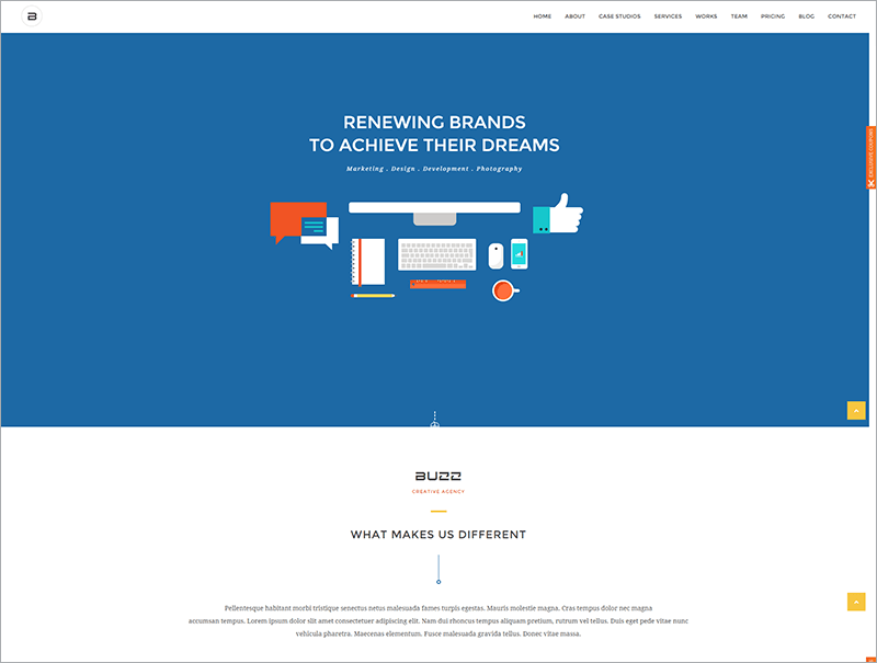 Flat Responsive HTML Site Template