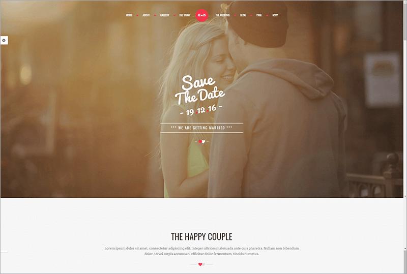 Forever HTML Wedding Template