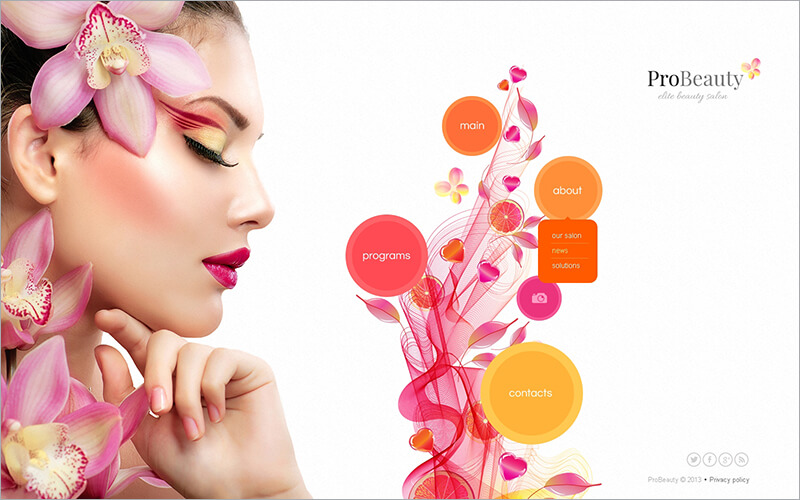 Free Beauty Salon Website Template