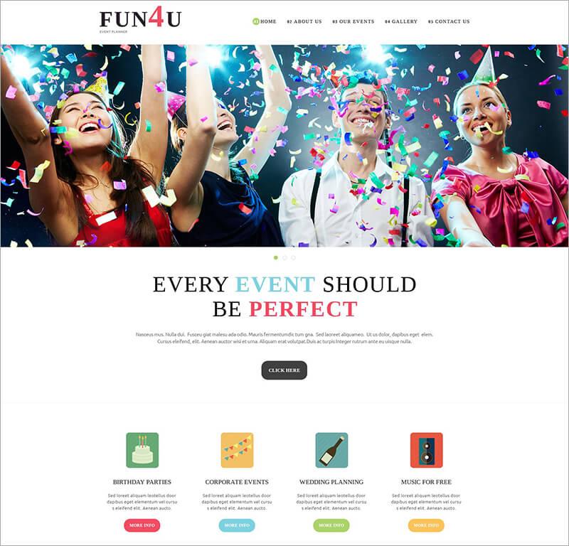 Free Festivity Planning Joomla Template