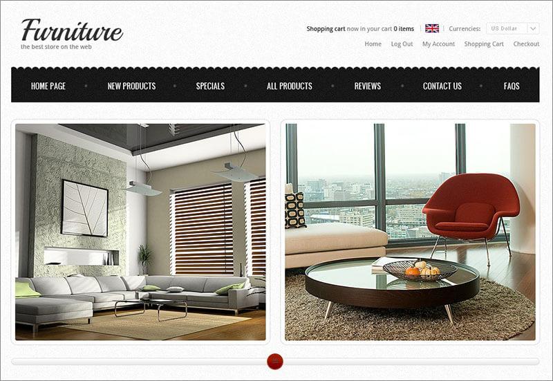 Free Furniture Store ZenCart Template