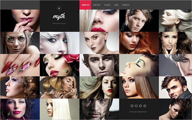 Free Hair Salon Website Template