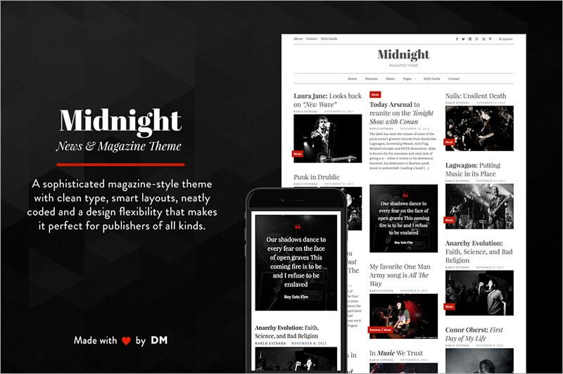Free Magazine Style Html Theme