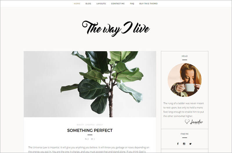 Free Minimal WordPress Blog Template