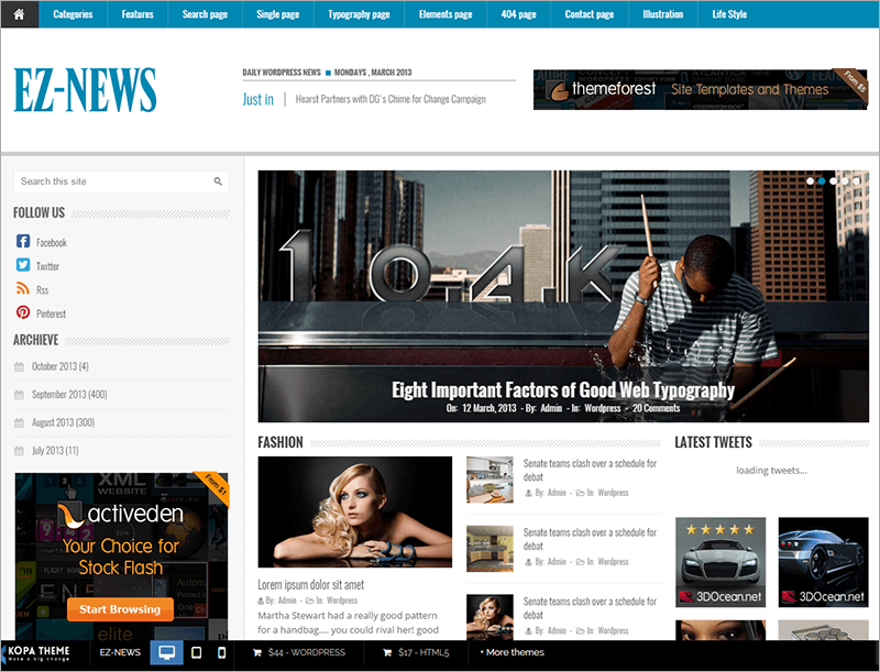 Free News HTML Template
