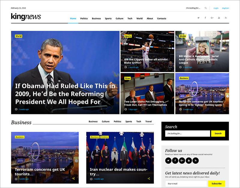 Free Newspaper and Blog WordPress Theme
