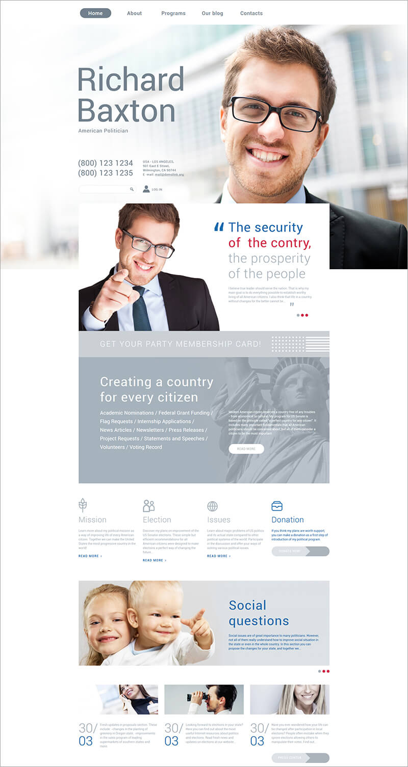 Free Political Drupal Template