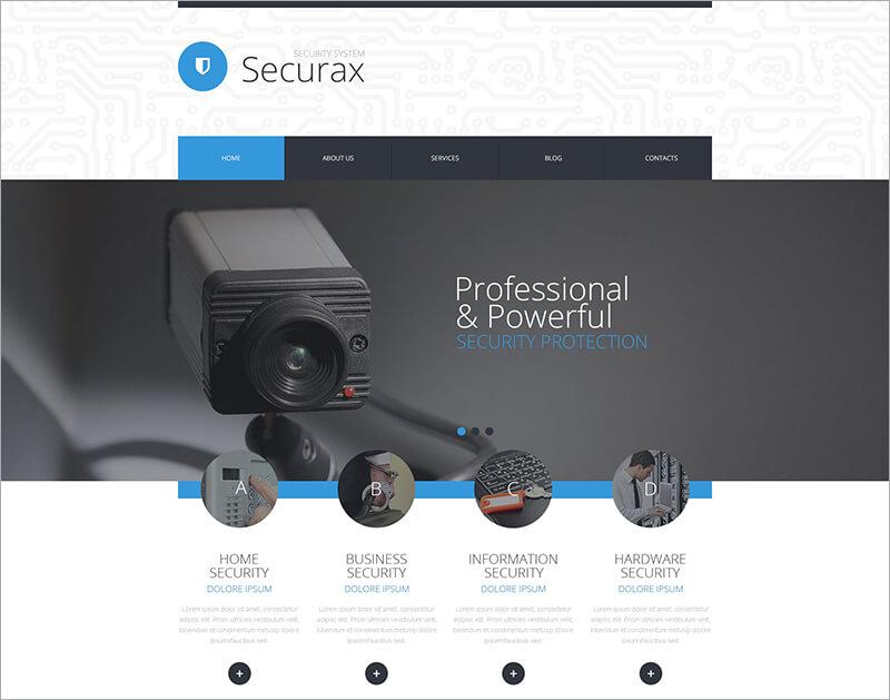 Free Security Systems WordPress Theme