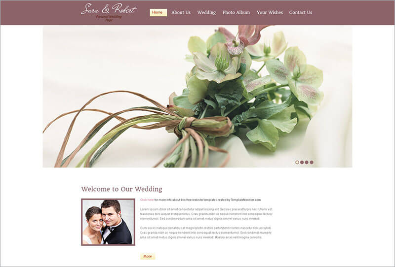 Free Website Wedding Template