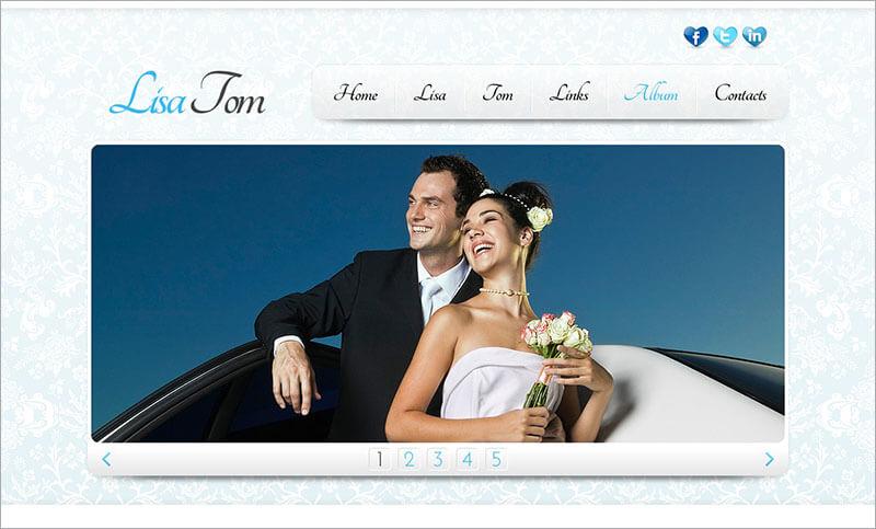 Free Wedding Website Template