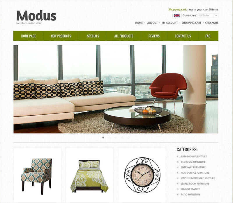 Furniture Creating Comfort ZenCart Template
