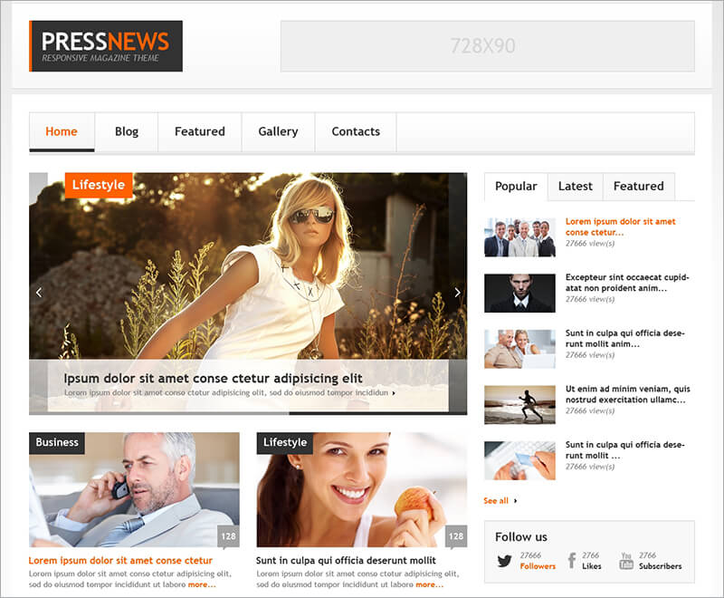 20 news website html5 templates free amp premium themes