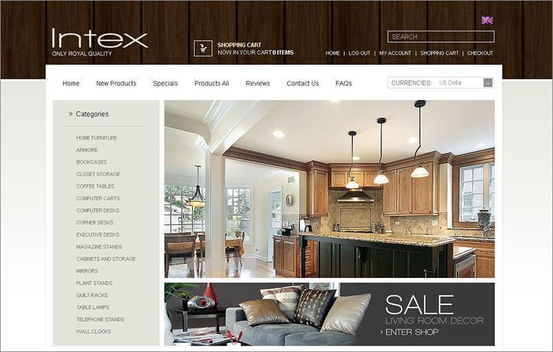 Interior & Furniture ZenCart Template