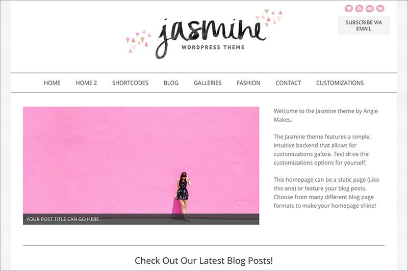 Jasmine Feminine WordPress Theme