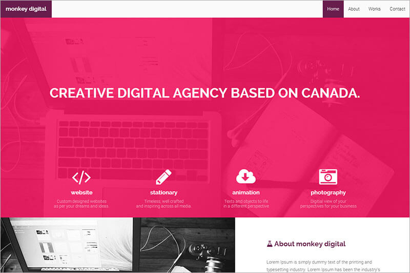 Latest Creative Bootstrap Theme