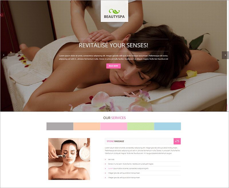 Latest Spa Bootstrap Theme