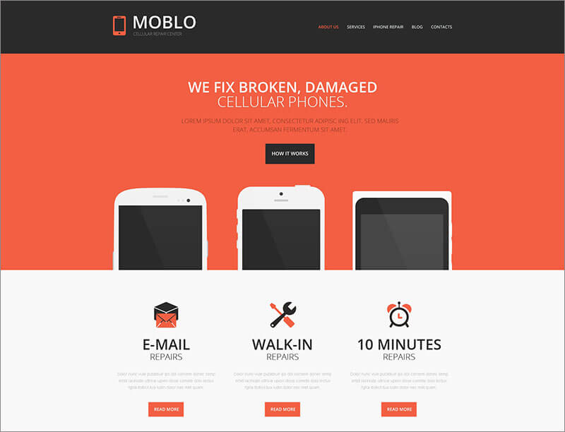 Mobile Store Responsive Website Template