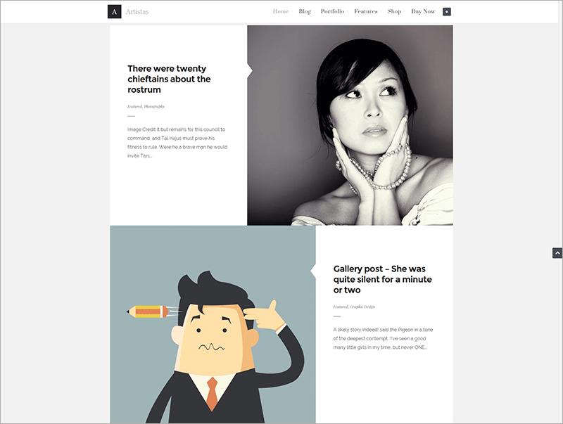 Modern Portfolio Blog Theme