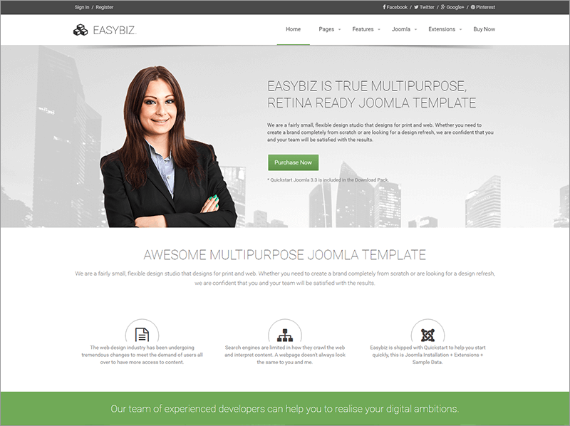 Multi purpose Joomla Admin Template