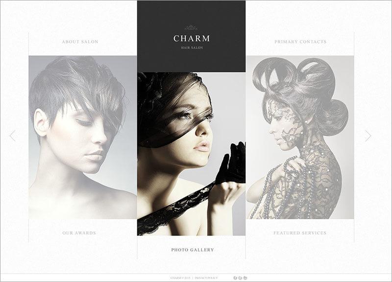 New Beauty Salon Website Template