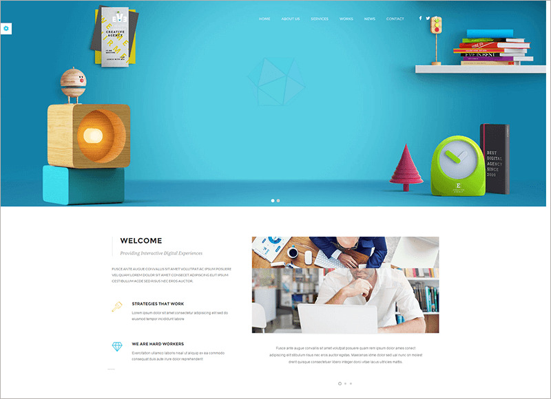 New Eve Creative Drupal Theme