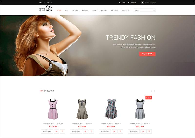 New Flat Shop HTML Template
