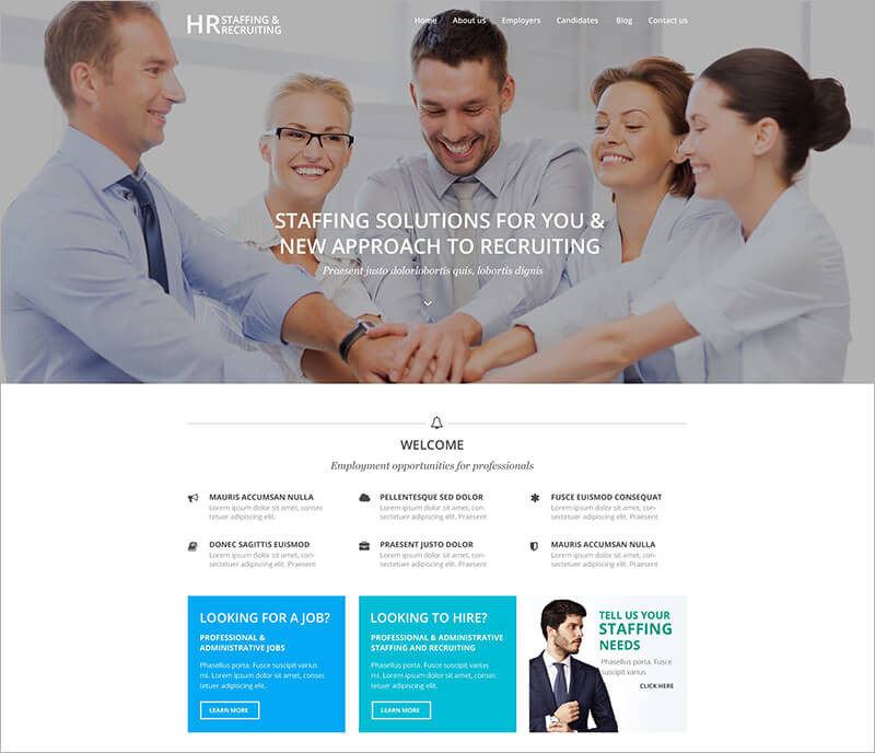 New HR Recruiting WordPress Theme