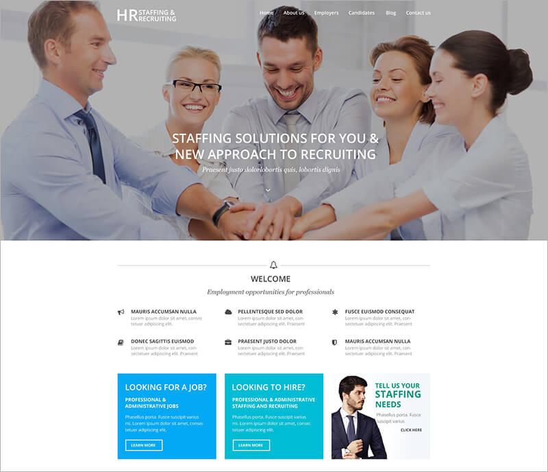New HR Recruiting WordPress Theme