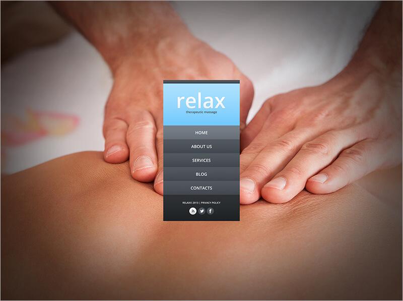 New Massage Salon Website Template
