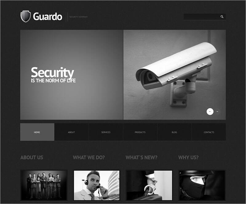 New Security WordPress Theme