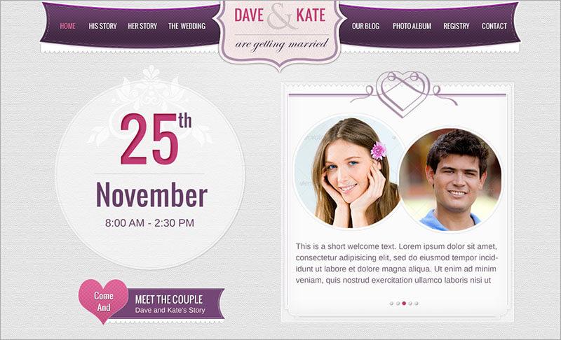 New Wedding Day Blog Template