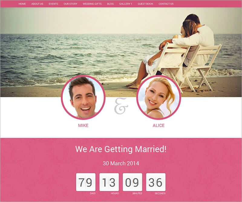 New Wedding Website Template