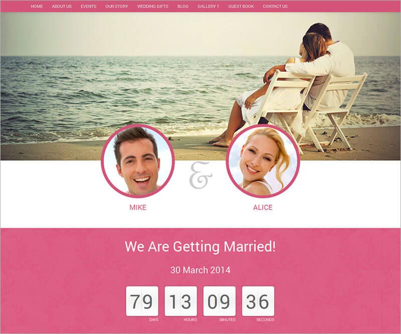 New Wedding Website Template