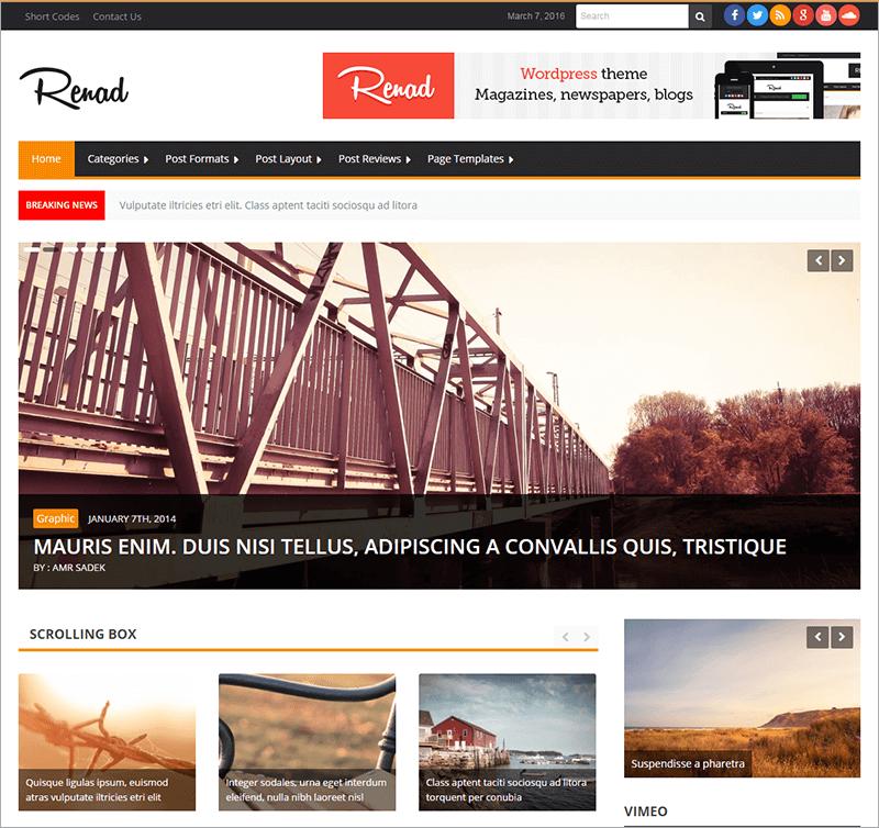 20 News Website Html5 Templates Free Premium Themes