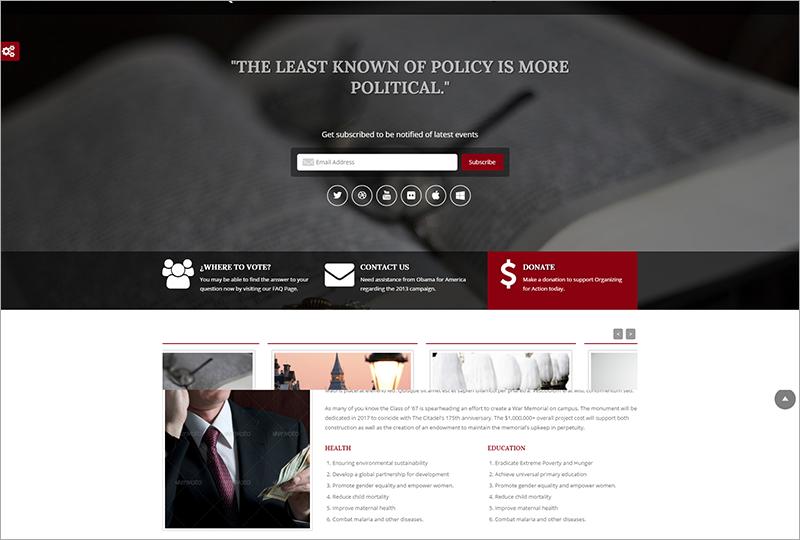 Political Bootstrap Html Theme