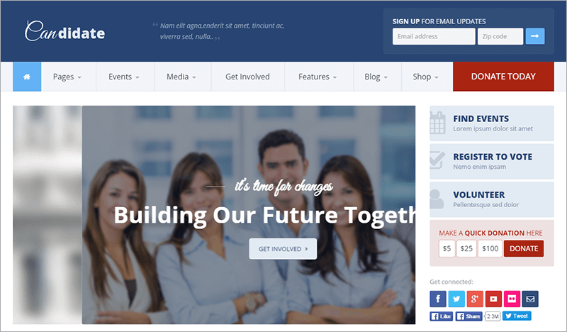 Political Non profit HTML Theme
