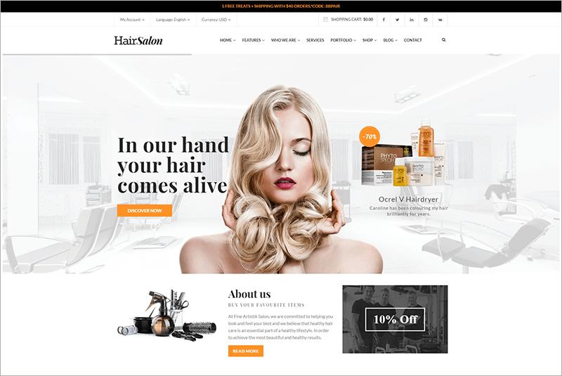 Premium Barber WordPress Theme